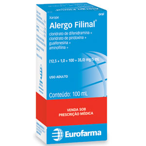 Alergo Filinal 12,5 + 1 + 100 + 35 Mg Xarope 120 Ml