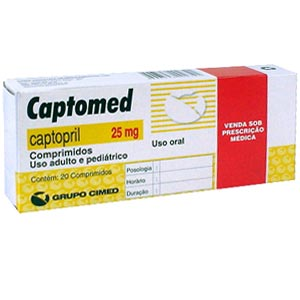 Captomed 25 Mg 20 Cprs