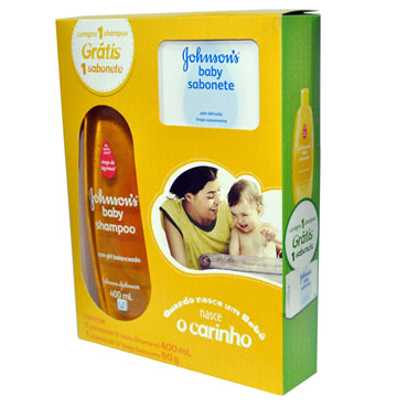 Johnson Baby Shampoo Infantil 400ml Gratis 1 Sabonete Em Barra Regular 80g