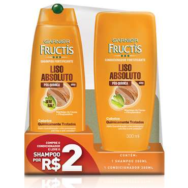 Shampoo + Condicionador Fructis Liso Absoluto 300ml