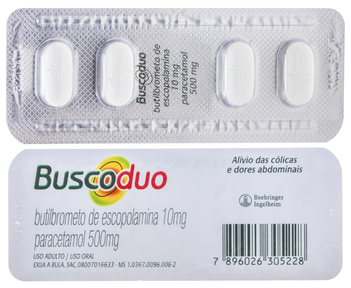 Buscoduo 10 + 500 Mg 120 Cprs
