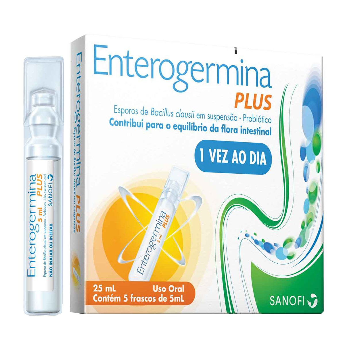 Enterogermina Plus 4 Bcfu/5ml X 5 Frascos