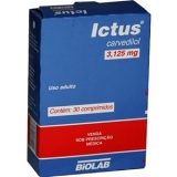 Ictus 3,125 Mg 30 Cprs