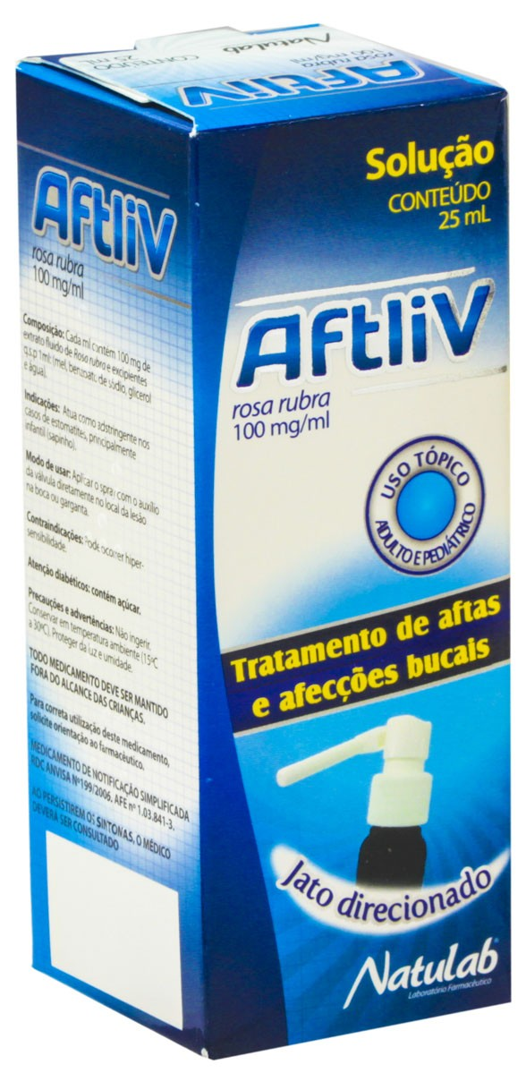 Aftliv Spray 100 Mg 25 Ml X 1 (/Ml)