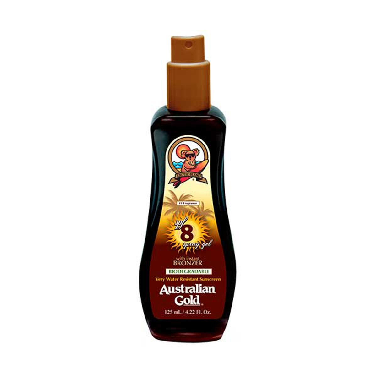Australian Gold Spf 8 Spray Gel Instant Bronze 125 Ml