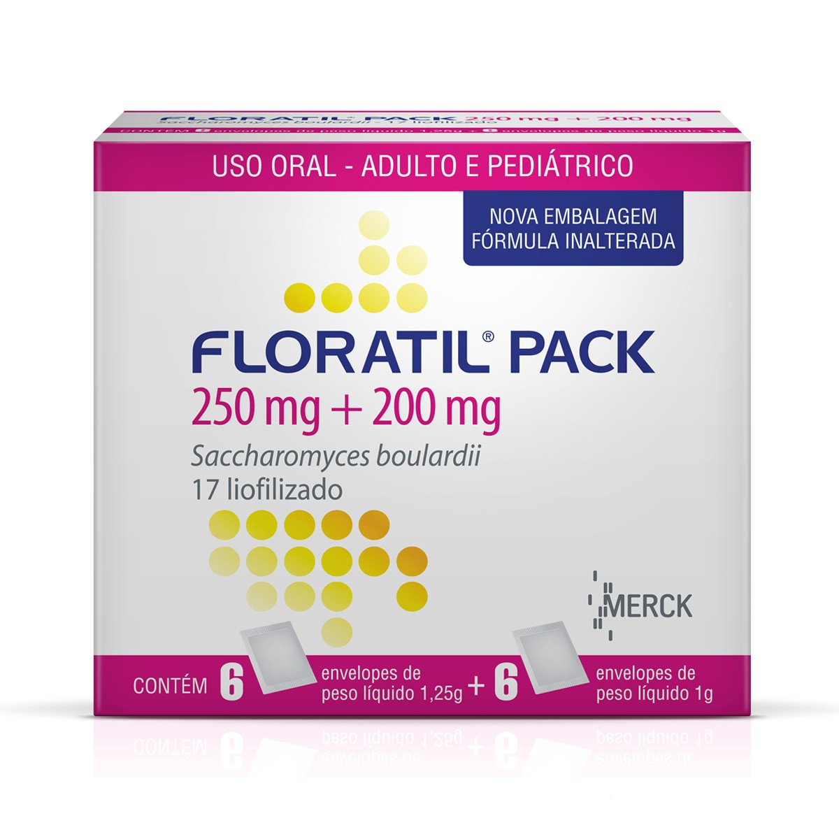 Floratil Pack 200 + 250 Mg + 1,25g 6 Sache X 1g + 6x1,25 G
