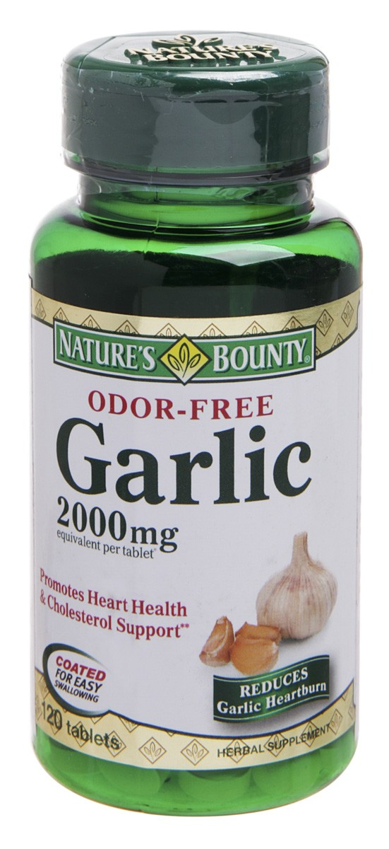 Garlic - Natures Bounty - 120 Comprimidos 2000mg