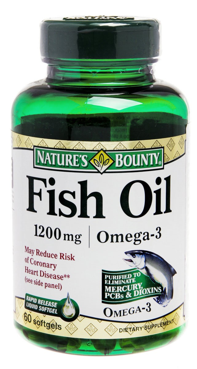 Natures Bounty Fish Oil 1200mg Omega3 Com 60 Comprimidos