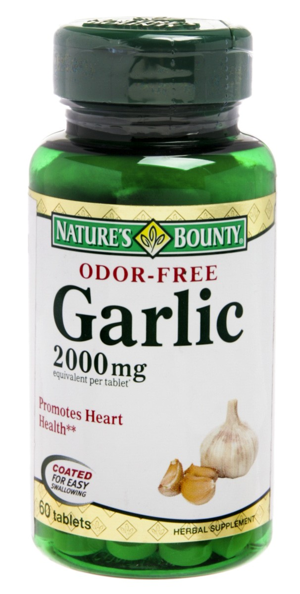 Natures Bounty Odor Free Garlic 2000mg Com 60 Comprimidos