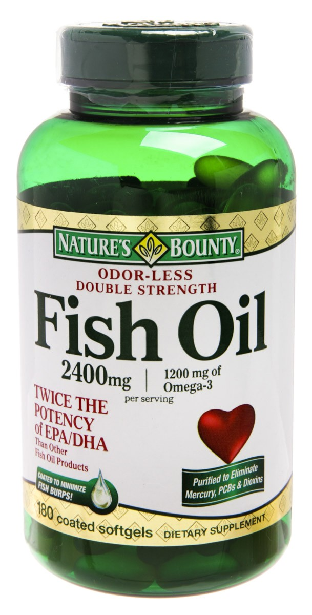 Natures Bounty Odor Less Fish Oil 1200mg Omega3 Com 180 Comprimidos