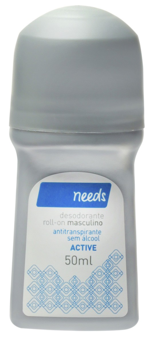Needs Desodorante Roll On Masculino Active 50ml