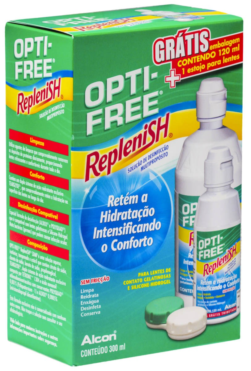 Opti-Free Replensh 300 Ml + 120 Ml - por: R$ 42,00