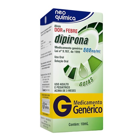 Dipirona Sodica 500 Mg Gotas 10 Ml