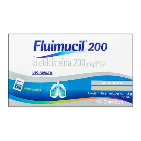 Fluimucil 200 Mg Oral C/16 Env 5 Gr