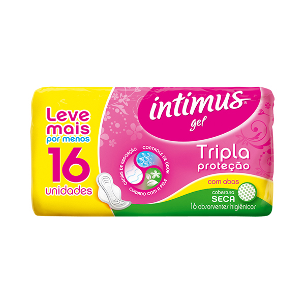 Absorvente Intimus Gel Normal Abas Seca 16 Unidades
