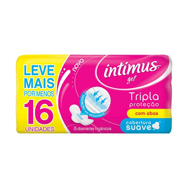 Absorvente Intimus Gel Normal Abas Suave 16 Unidades