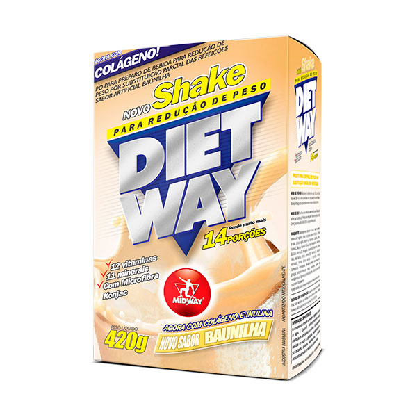 Midway Shake Diet Way Baunilha 420g