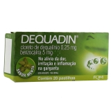 Dequadin 0,25 + 5 Mg 20 Past Menta